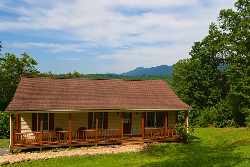 Front of Shenandoah Sunset Cabin